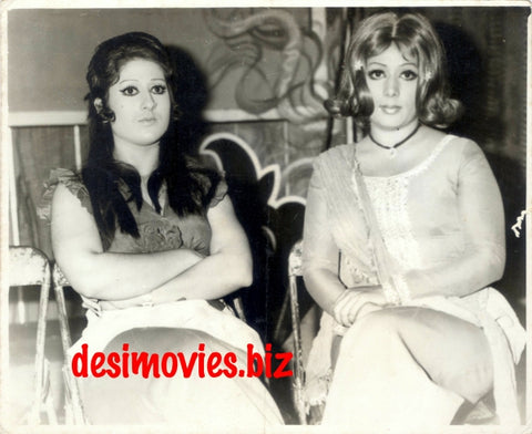 Neelo and Anita (1970s) Lollywood Stars on the set of Khaufnaak