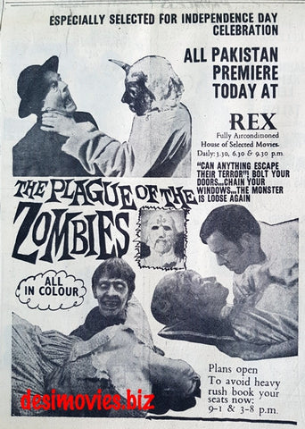 Plague of the Zombies, The (1968) Press Ad - Especially for Independence Day!