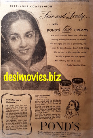 Ponds Cold Cream (1949) Press Advert 1949