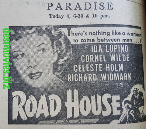Road House (1948) Press Advert