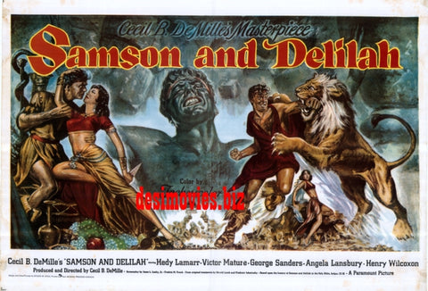 Samson and Delilah (1949) Quad Poster