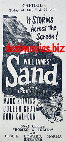 Sand, The (1949) Press Advert.