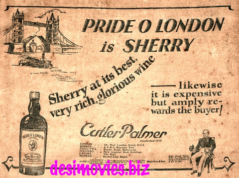 Pride O London Sherry (1927) Press Advert 1927
