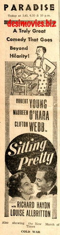 Sitting Pretty (1948) Press Advert