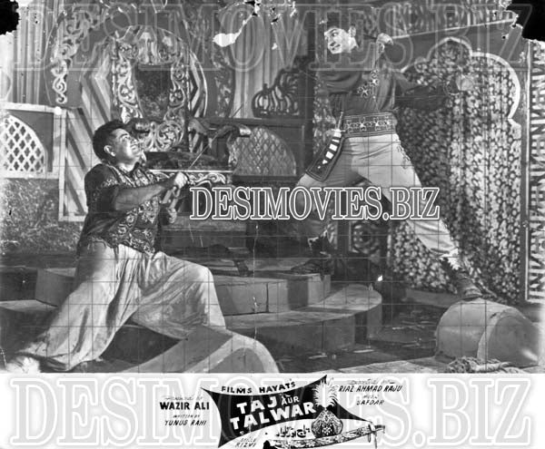 Taj Aur Talwar (1961) Lollywood Lobby Card Still