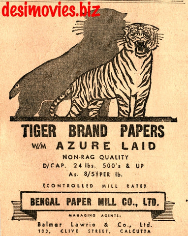 Tiger Brand (1947) Press Advert 1947