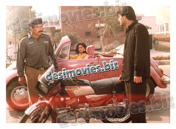 Yes Boss (1997) Lollywood Lobby Card Still 1