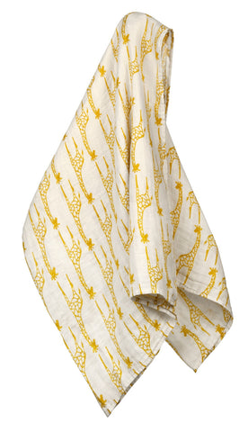 Organic Swaddle, Yellow Giraffe