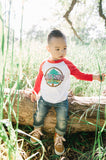 Wilderness Explorer Raglan - White/Red