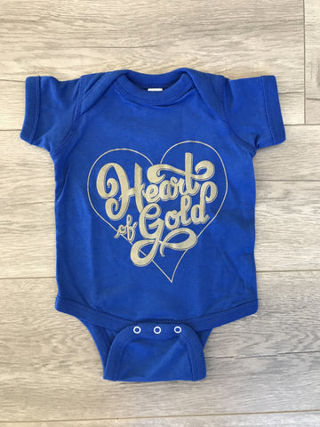 Heart of Gold Onesie - Blue
