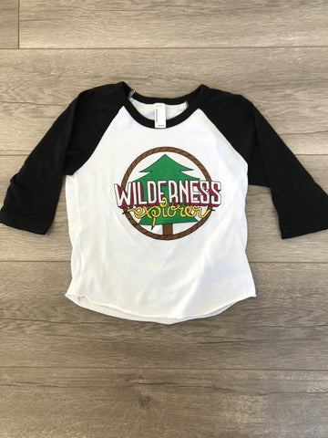 Wilderness Explorer Raglan - White/Black