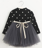 Harlow Polkadot Dress - Black