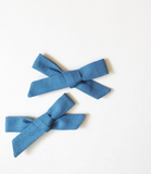 School Girl  Bow I Prussian Blue