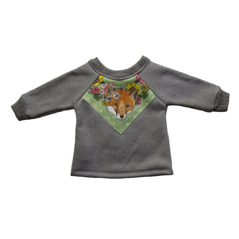 Fox Print Fleece Sweatshirt