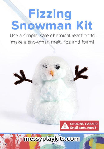 Messy Play Singles- Fizzing Snowman Kit