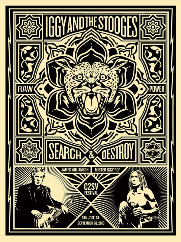 Shepard Fairey - Iggy and the Stooges 2013