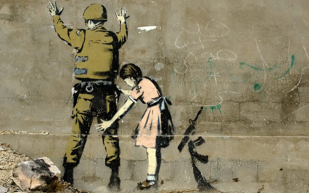 Banksy- Girl Searching Soldier