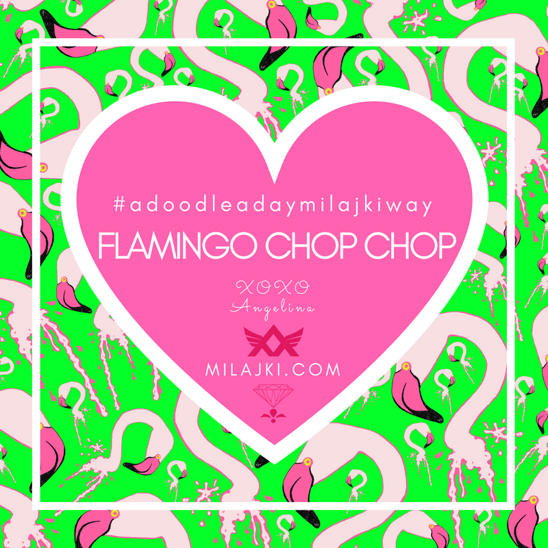 FLAMINGO CHOP CHOP NEW PRINT DESIGN 💎 🌈 💝🌴💕 🌴💕