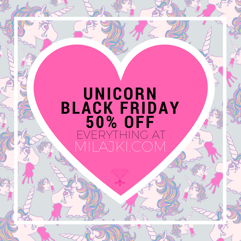 50 % OFF RAINBOW UNICORN KINDA BLACK FRIYAY!!! 💝🙌🏻🦄🌈💫🔮🐚💎👌🏻