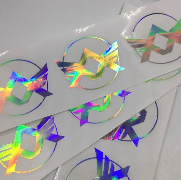 milajki holographic sticker labeling