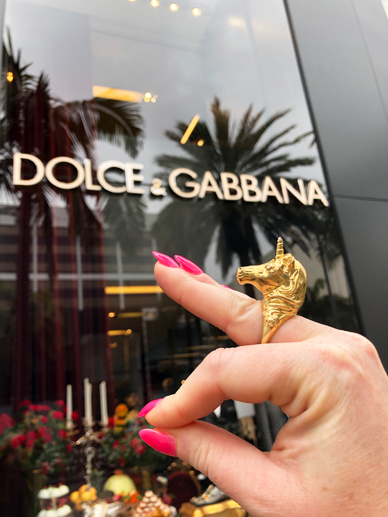 Dolce & Gabbana milaki treasure hunting rodeo drive Los Angeles