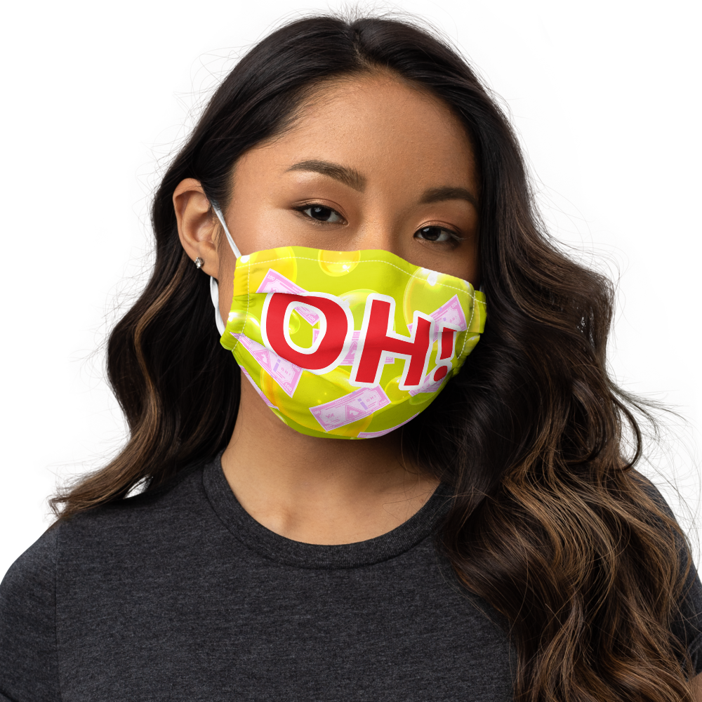OH! Face mask - Yellow / Red text