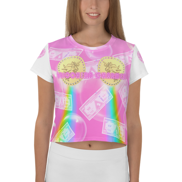 UnicOH!rn Charmed Crop Tee