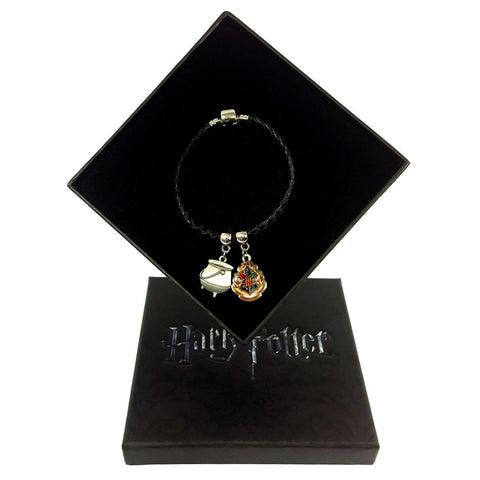 Harry Potter Hogwarts Charm & Cauldron Bracelet + Gift Box