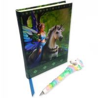 Magical Unicorn Pen and Book Set with Naming Certificate