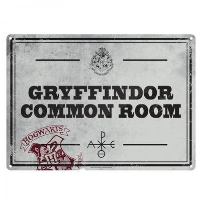 "Harry Potter Metal Sign ""Gryffindor Common Room"""