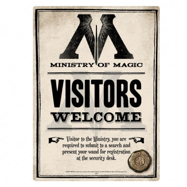 "Harry Potter Metal Sign ""Ministry of Magic"""