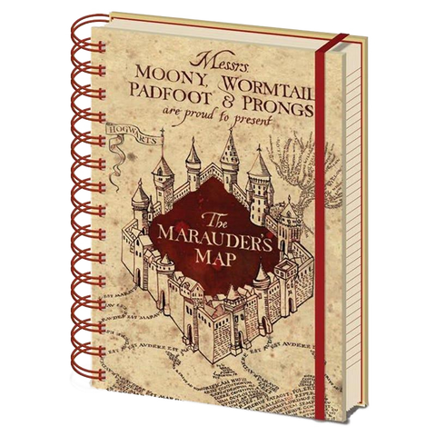 The Marauders Map Harry Potter Notebook (Lined)