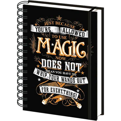 Molly Weasley Quote Harry Potter Notebook (Lined)