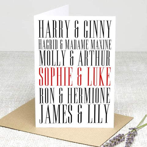 Add your name Card Greeting Cards £2.99 Wizarding Wares
