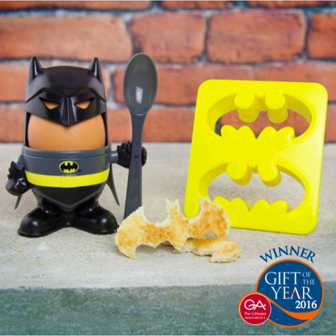 Batman Officially Licensed Egg Cup + Toast Cutter (Gift Of The Year 2016) Gift Ideas £7.99 Wizarding Wares