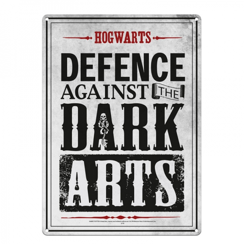 "Harry Potter Metal Sign ""Defence Against The Dark Arts"""