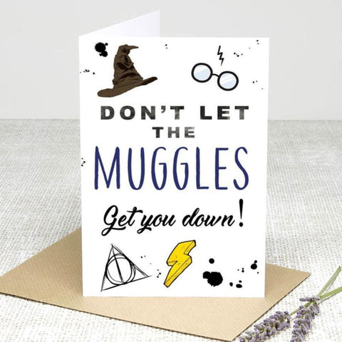 Dont Let the muggles get you down Greeting Cards £2.99 Wizarding Wares