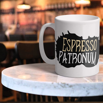 Espresso Patronum Novelty 11oz White Ceramic Mug