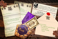 Personalised Acceptance Letter, Train Ticket & Extras