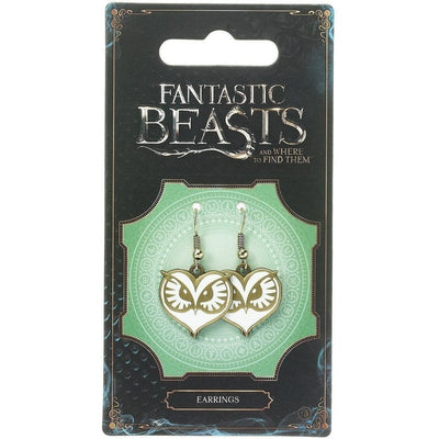 Fantastic Beasts and Where to Find Them Owl Logo Earrings