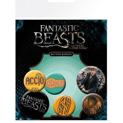 Fantastic Beasts Pin Badge Set ( x5 Badges )