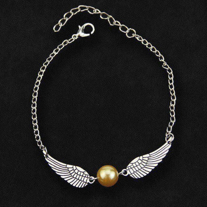 Golden Wings Witchcraft & Wizardry Bracelet Jewellery £5.99 Wizarding Wares