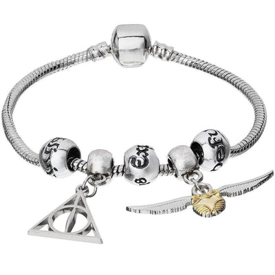 Harry Potter Deathly Hallows & Golden Snitch Charm Bracelet