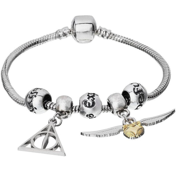 Harry Potter Deathly Hallows & Golden Snitch Charm Bracelet Jewellery £24.99 Wizarding Wares