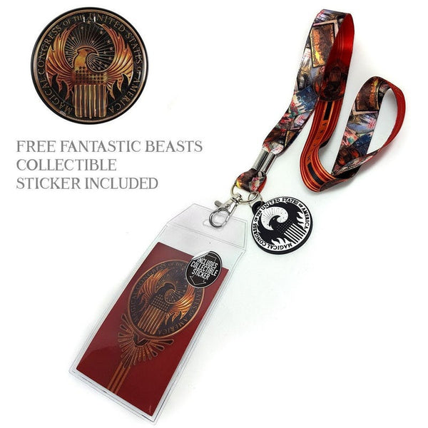Harry Potter Fantastic Beasts Officially Licensed ID/Key Lanyard Lanyards £7.99 Wizarding Wares