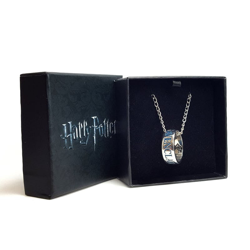 Harry Potter Gryffindor Ravenclaw Hufflepuff or Slythering housebase rings on necklace Jewellery £18.99 Wizarding Wares