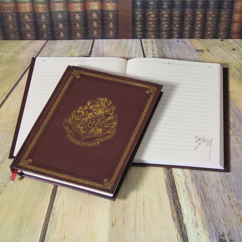 Harry Potter Metallic Gold Embossed Notebook (Lined) Books £7.99 Wizarding Wares