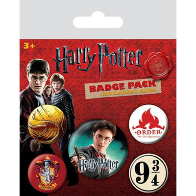 Harry Potter Pin Badge Set ( x5 Badges )