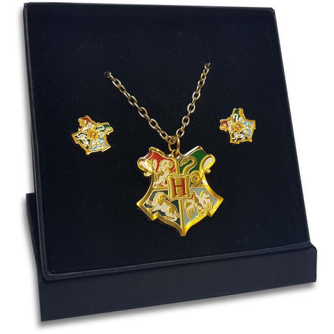 ( Hogwarts )  Harry Potter Officially Licensed Necklace & Earring Gift Set Jewellery £16.99 Wizarding Wares