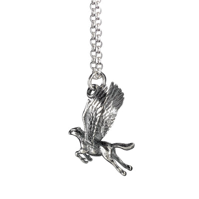Harry Potter Solid Sterling (925) Buckbeak The Hippogriff Silver Necklace